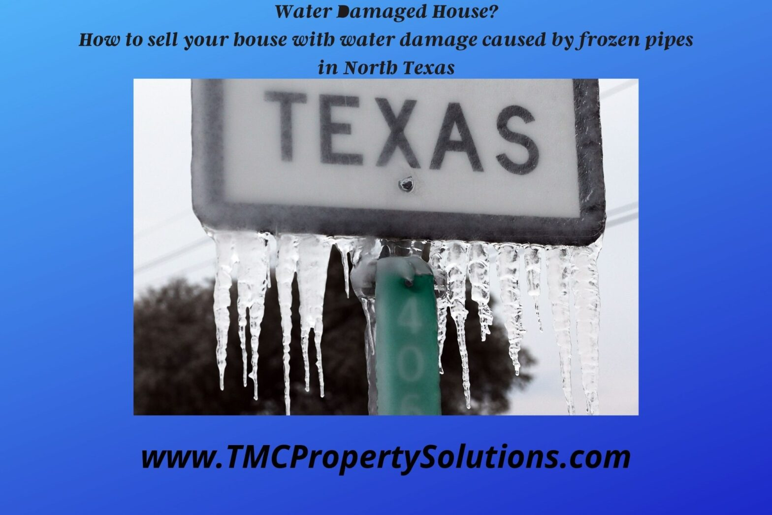 sell your house with Water Damage